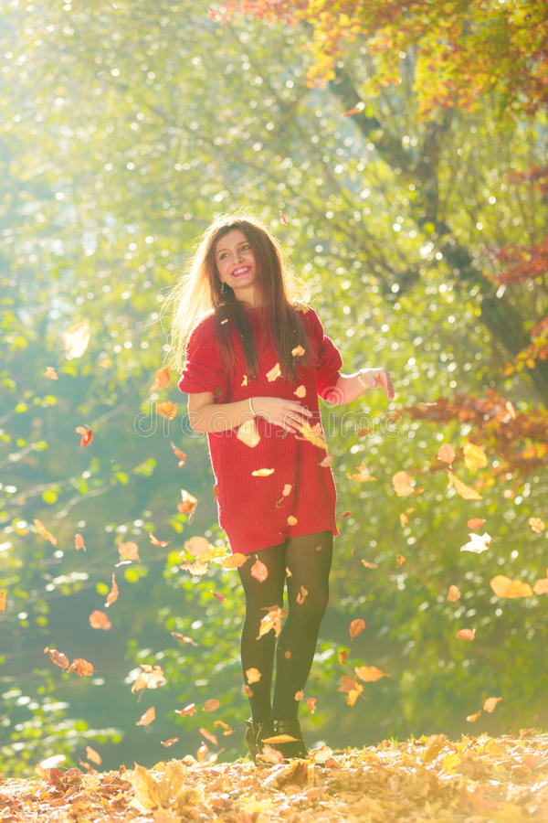 листья меча детеныши женщины стоковое изображение rf