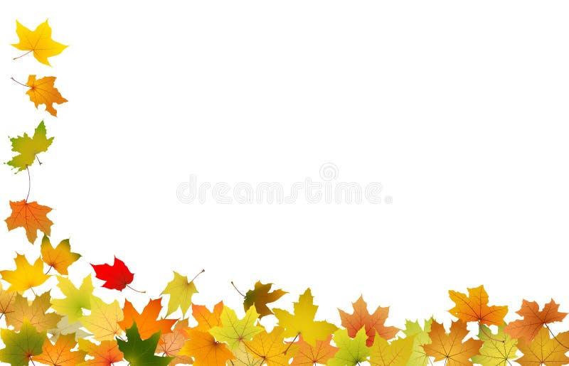 листья осени падая иллюстрация вектора