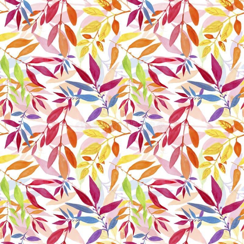 листья осени цветастые делают по образцу безшовное бесплатная иллюстрация