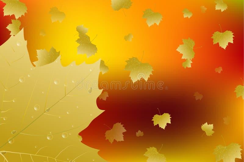 листья падения предпосылки осени искусства цифровые вектор бесплатная иллюстрация