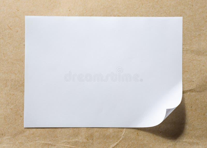лист пустой бумаги стоковые фото