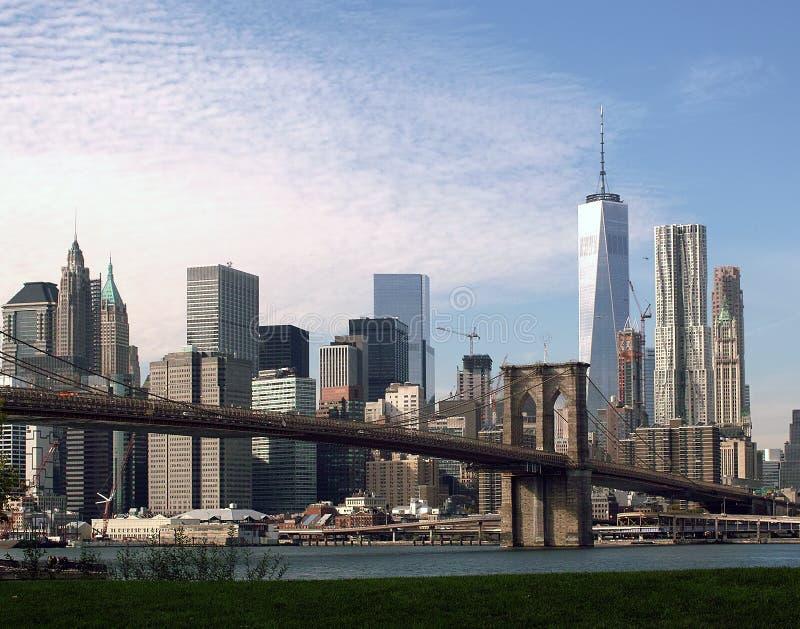 Ист-Ривер от Бруклина, Нью-Йорка стоковые фотографии rf