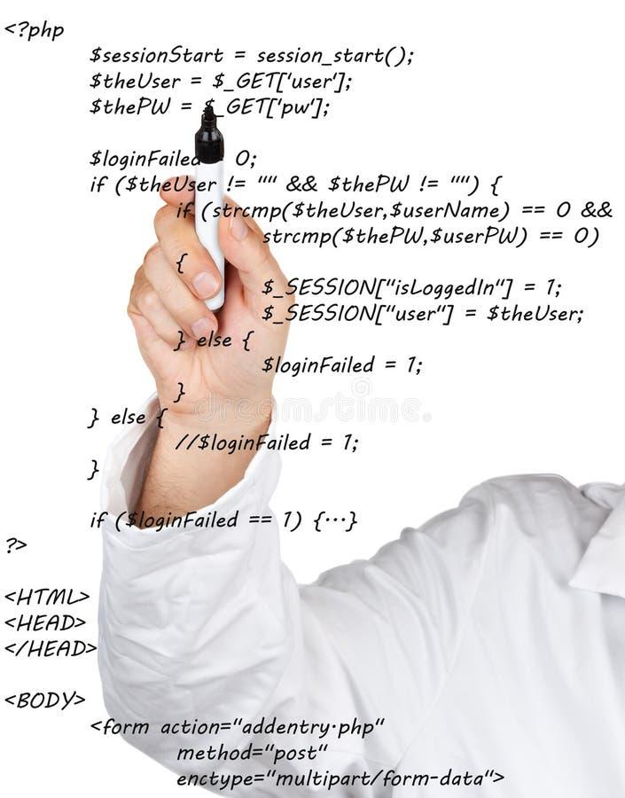 Исходный код стоковые изображения rf
