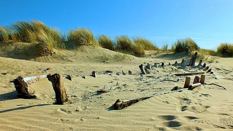 Исчезать в пляж Connemara стоковое фото