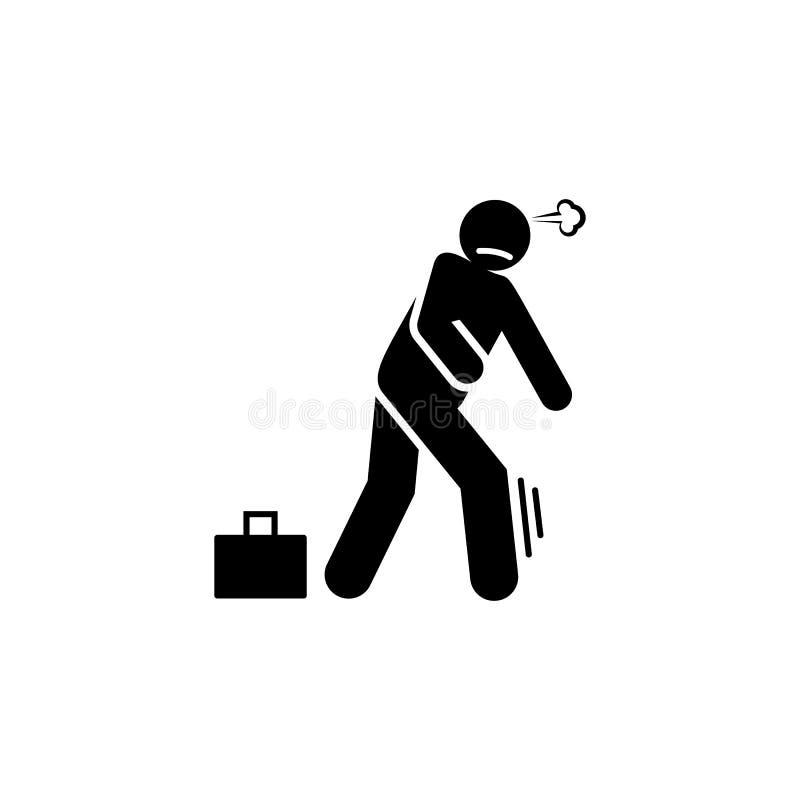 Исчезните, побегите прочь, бегущ прочь значок Элемент отрицательного значка черт характера r Знаки и иллюстрация штока
