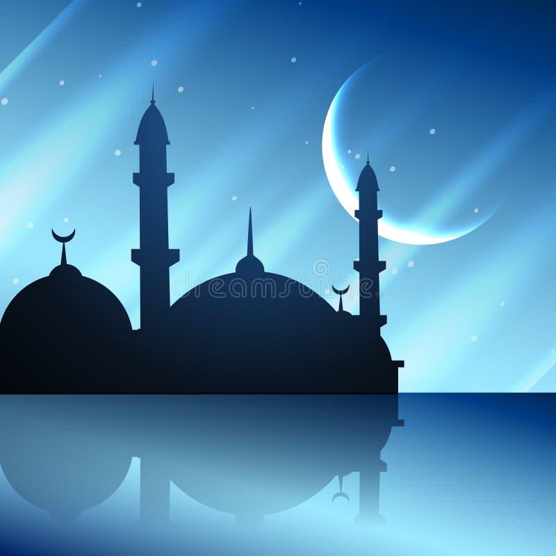 Исламская конструкция мечети иллюстрация штока