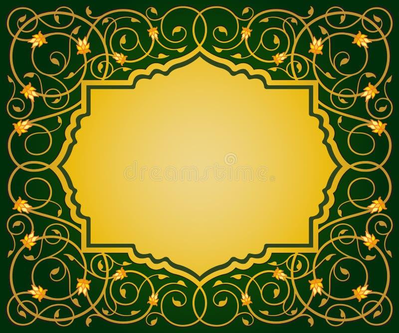 Исламская флористическая граница искусства бесплатная иллюстрация
