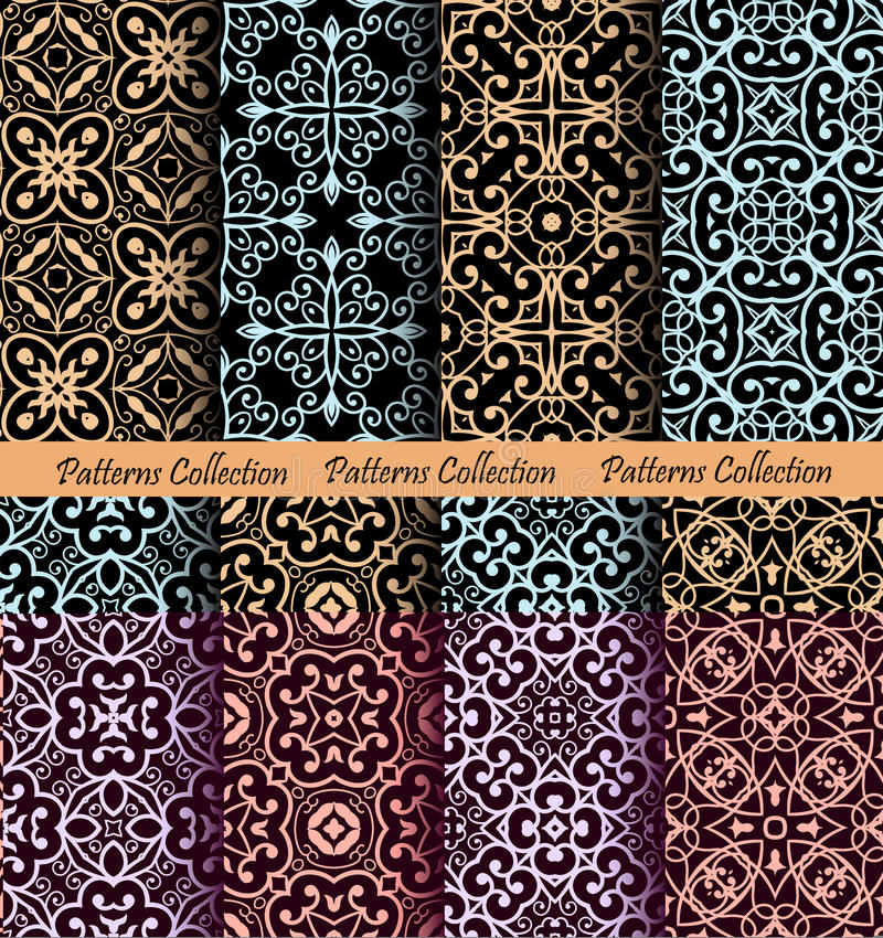 Исламские предпосылки картины роскошные иллюстрация вектора