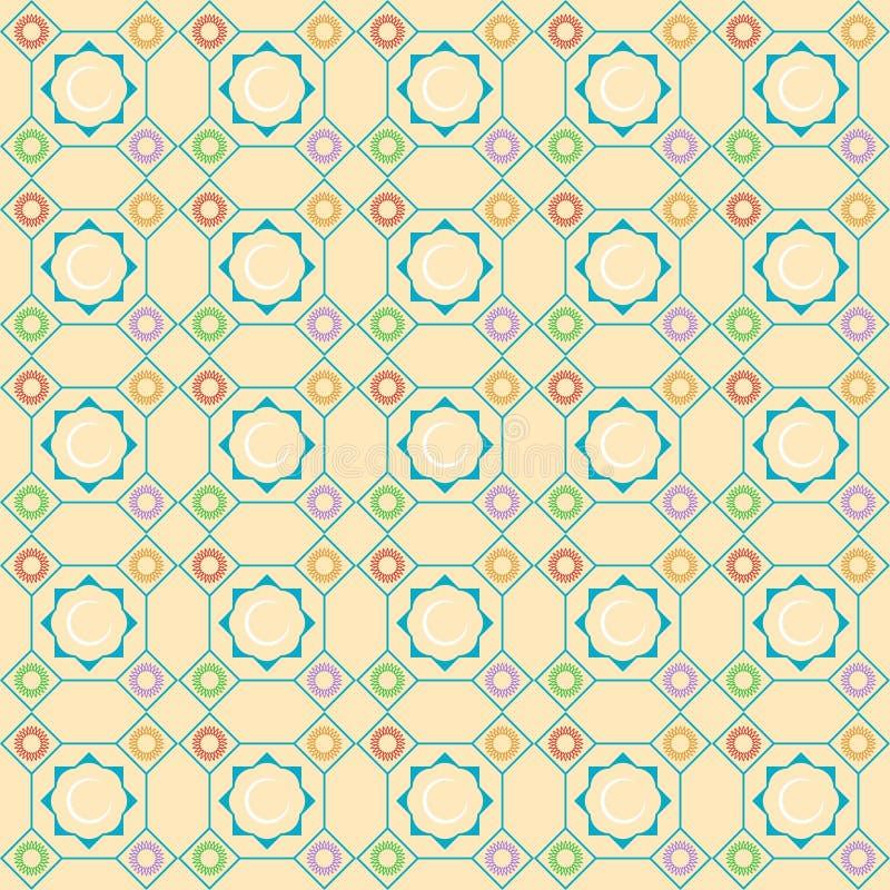 исламский орнамент Предпосылка с безшовной картиной также вектор иллюстрации притяжки corel стоковые изображения rf