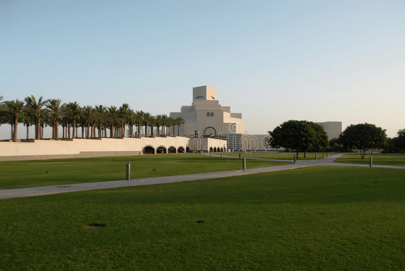 Исламское Muséum в Дохе стоковые изображения