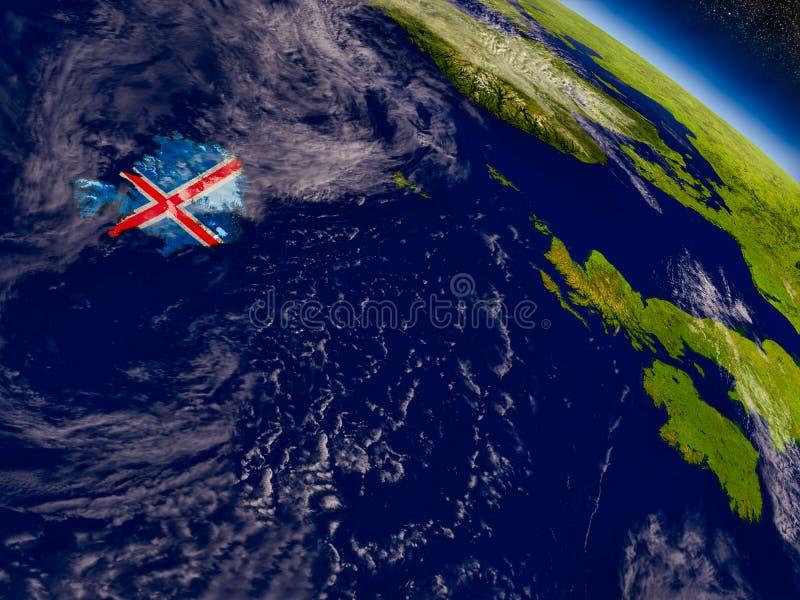 Download Исландия с врезанным флагом на земле Иллюстрация штока - иллюстрации насчитывающей климат, orbiting: 81804853