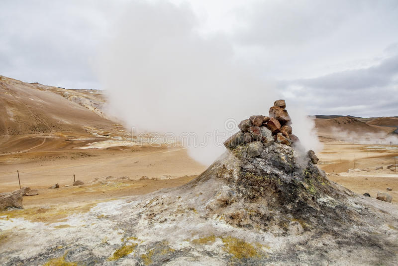 Исландская фумарола стоковые изображения rf