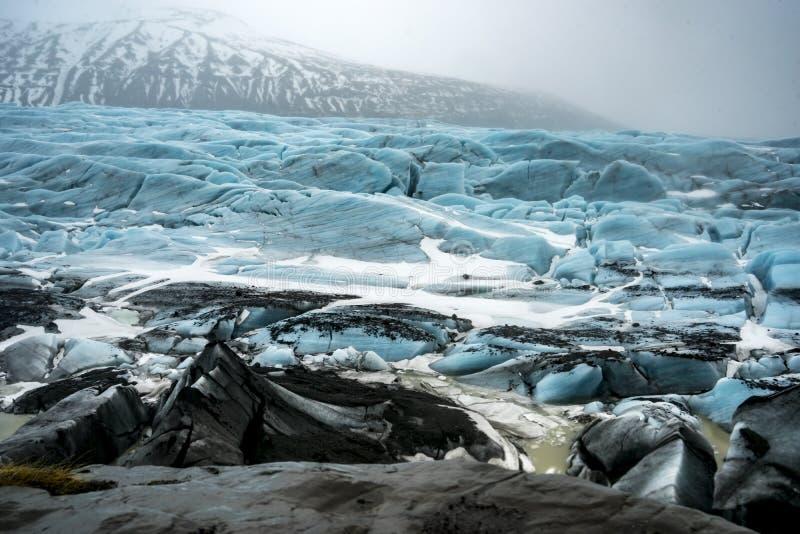 Исландские взгляды - ледник стоковое изображение rf