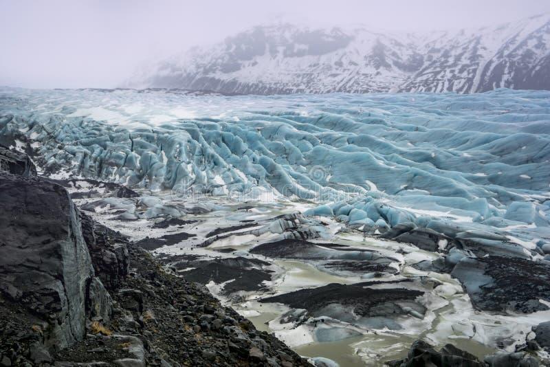 Исландские взгляды - ледник стоковые фотографии rf