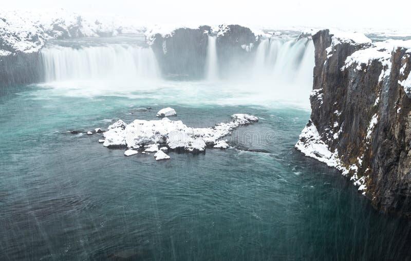 Исландские водопады стоковые изображения rf