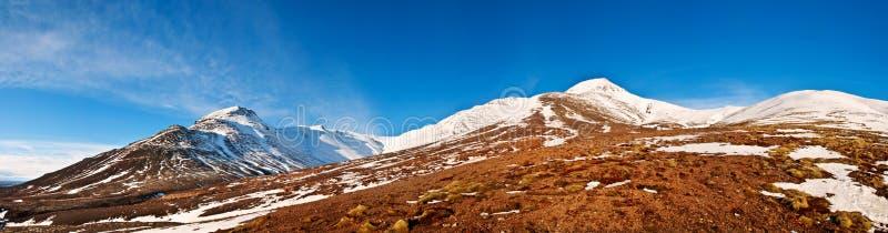 Исландский коэффициент панорамы 1x3.8 ландшафта осени стоковая фотография rf