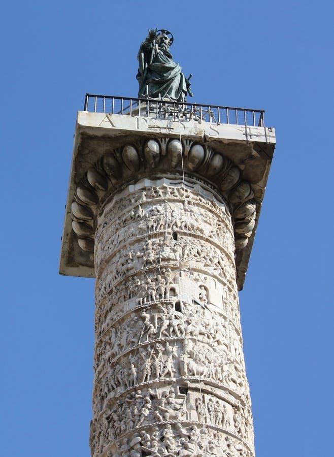 Италия. Рим. Троянская колонка стоковые фотографии rf