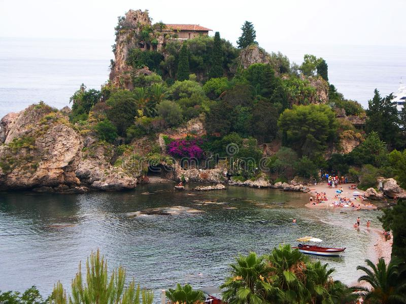 Италия, Сицилия: Панорамный Isolabella стоковые фото