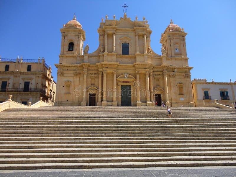Италия, Сицилия: Собор ² Сан Nicolà в Noto стоковое изображение rf