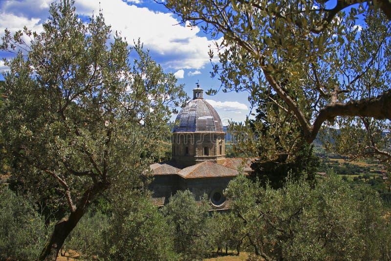 Италия, Тоскана, Cortona стоковое изображение