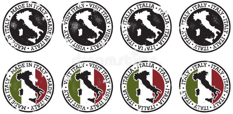 Италия штемпелюет сбор винограда иллюстрация штока