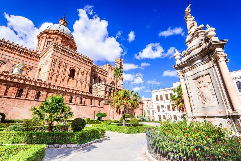 Италия palermo Сицилия Нормандский собор стоковое изображение