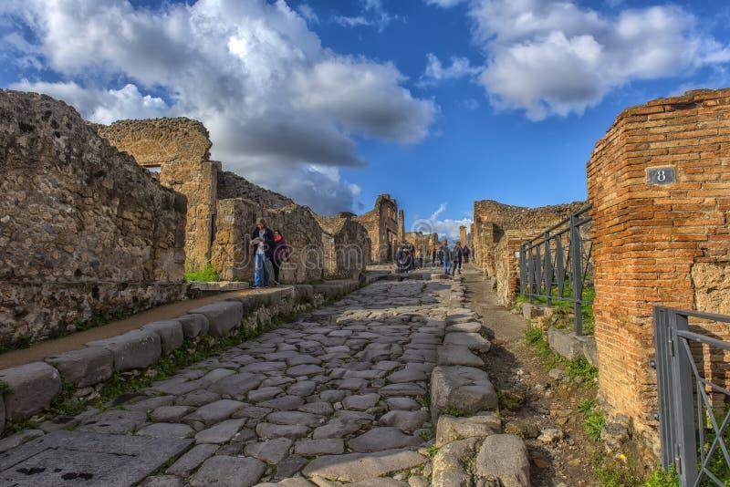 Италия, Pompei, улица 02,01,2018 в Помпеи, Италии Помпеи a стоковые фотографии rf