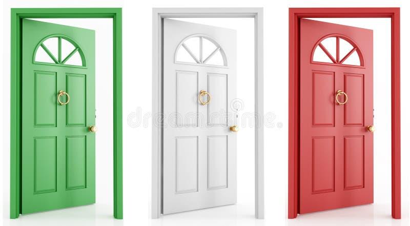 итальянка двери иллюстрация вектора
