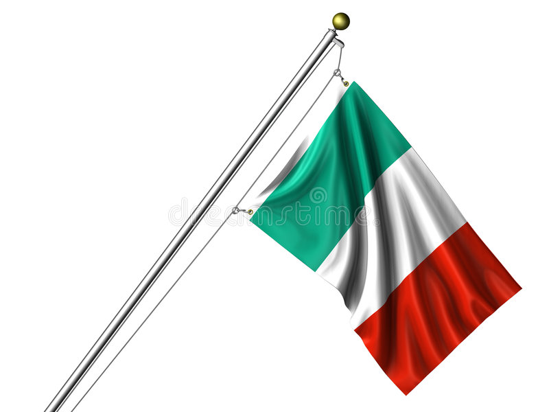 итальянка изолированная флагом иллюстрация вектора