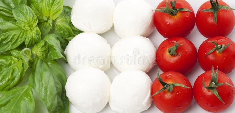 итальянка флага стоковое изображение rf