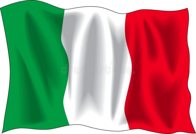 итальянка флага иллюстрация вектора