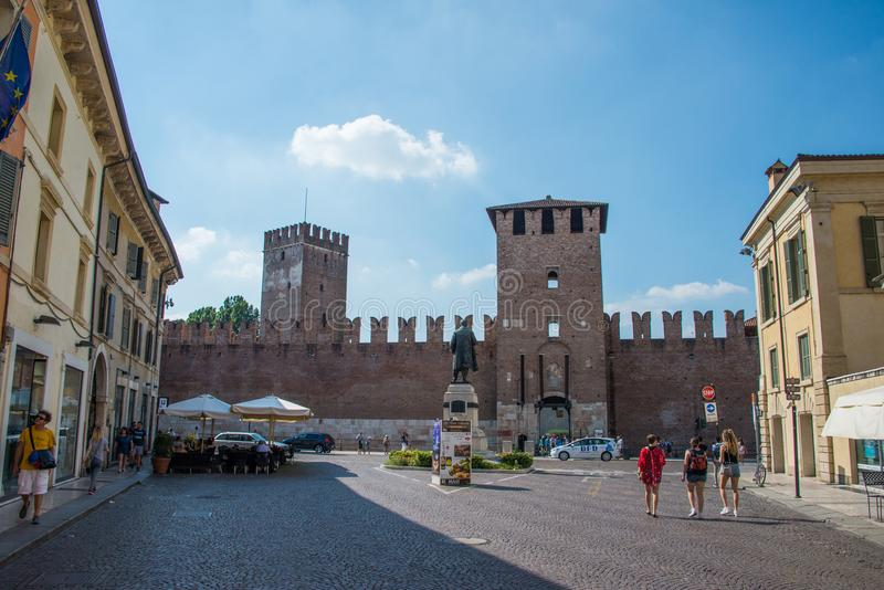 Итальянка Castelvecchio: ` Верона замка ` старое, Италия стоковое фото rf