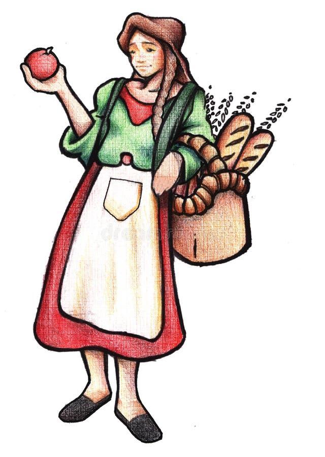 итальянская женщина иллюстрация штока