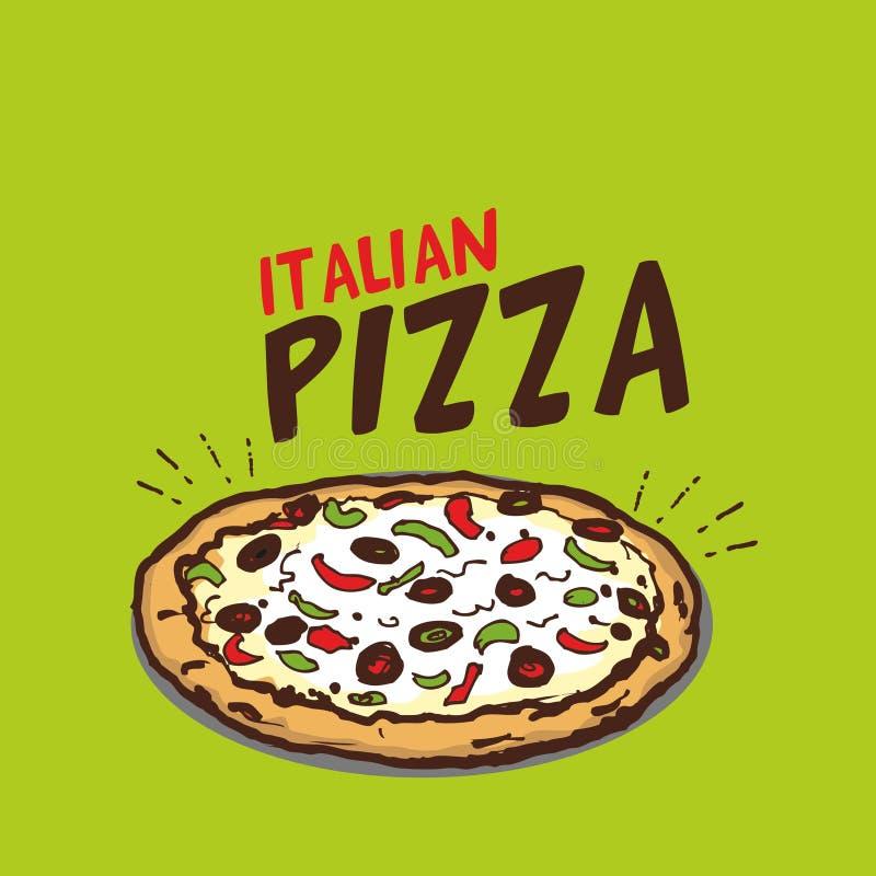Итальянская иллюстрация вектора пиццы бесплатная иллюстрация