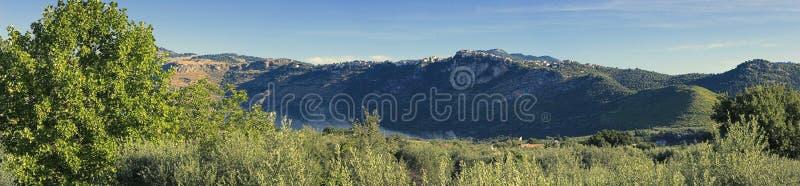 итальянская панорама природы стоковые фото