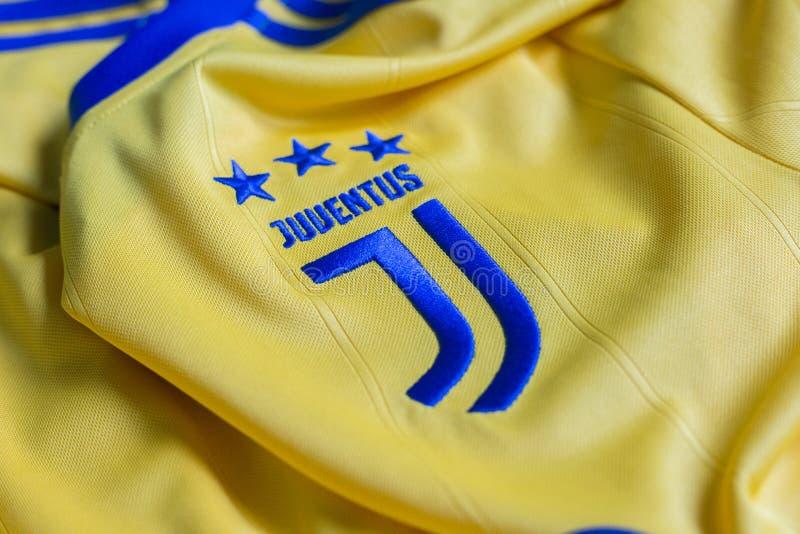 Итальянская эмблема клуба FC Juventus Турина футбола стоковые фотографии rf