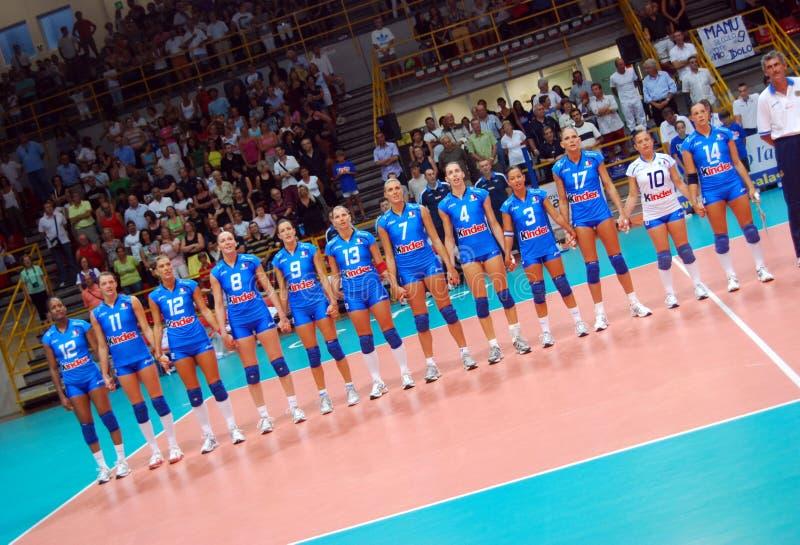 итальянский волейбол команды стоковые изображения rf