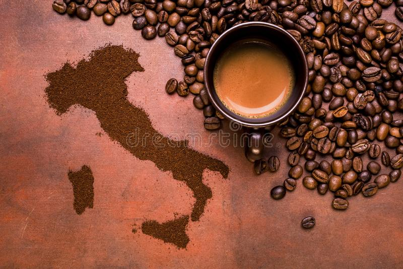 Итальянский кофе эспрессо стоковое изображение rf