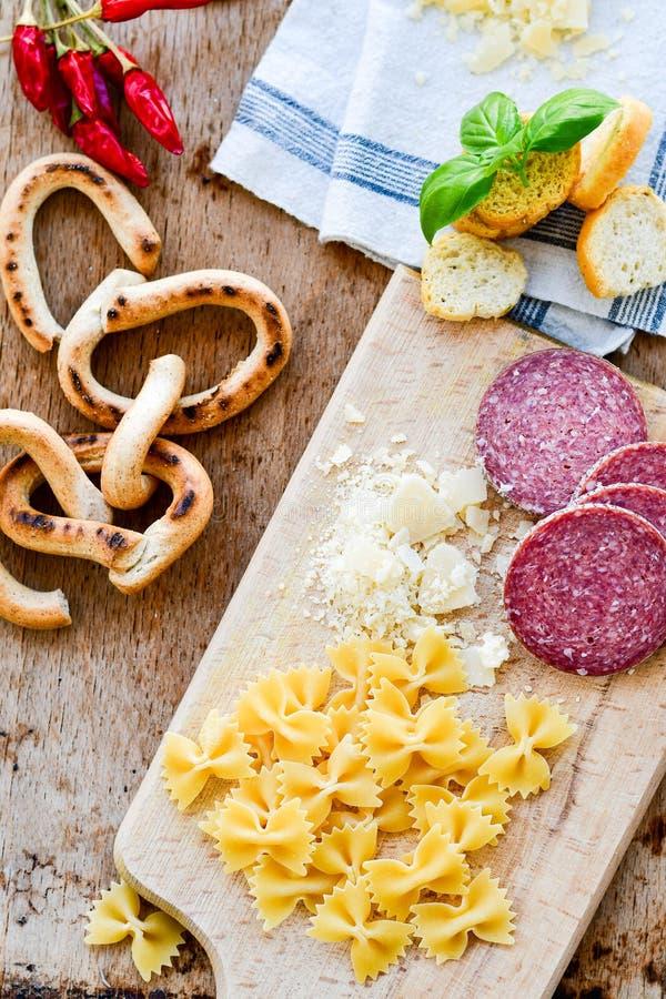 Итальянский обед стоковые фото