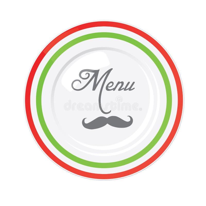 Итальянский шаблон конструкции меню ресторана иллюстрация вектора