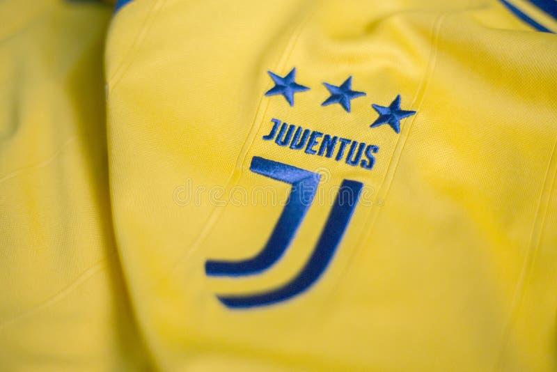 Итальянский jersey клуба FC Juventus Турина футбола стоковое изображение rf