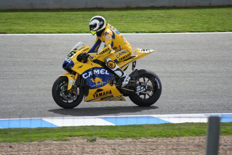 итальянское valentino rossi гонщика motogp стоковое фото
