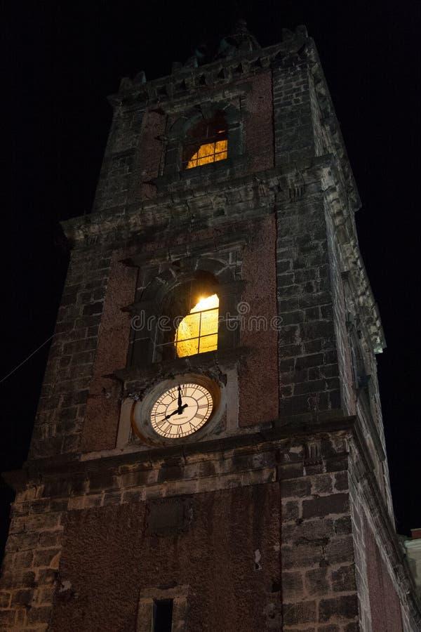 Италия Сицилия Adrano к ноча стоковое фото
