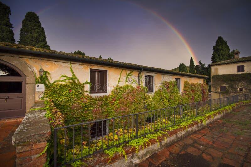 Италия, Тоскана, Пиза, Castello Ginori di Querceto стоковые фото