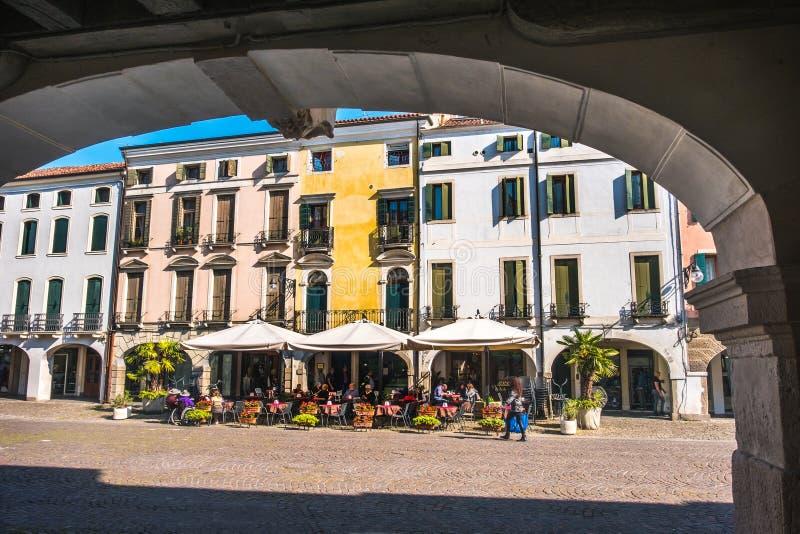Итальянка расквартировывает портик padova Италии este аркады стоковые фотографии rf