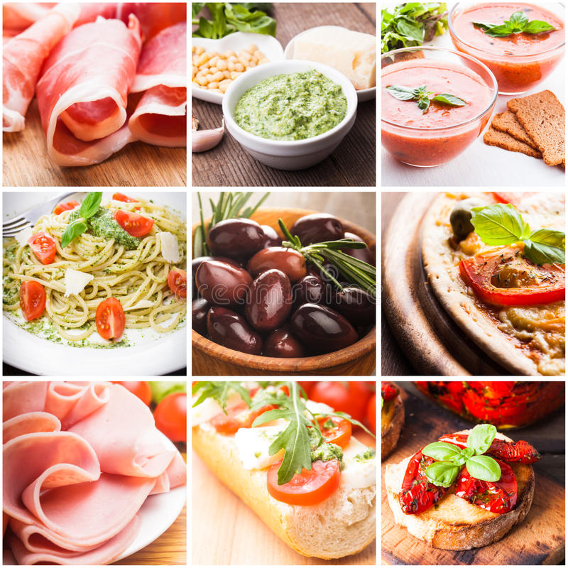 Итальянская еда стоковая фотография rf