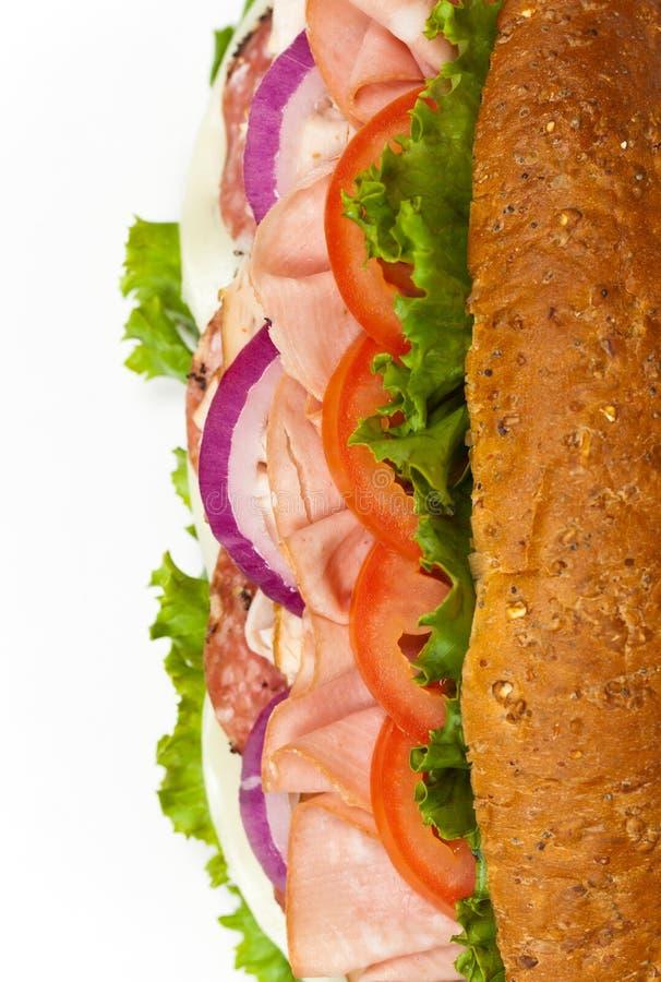 итальянская подводная лодка сандвича стоковая фотография