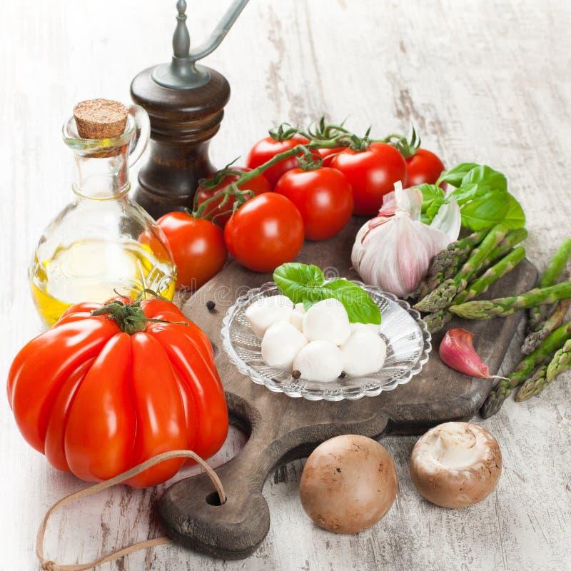 Итальянская предпосылка еды стоковые фотографии rf
