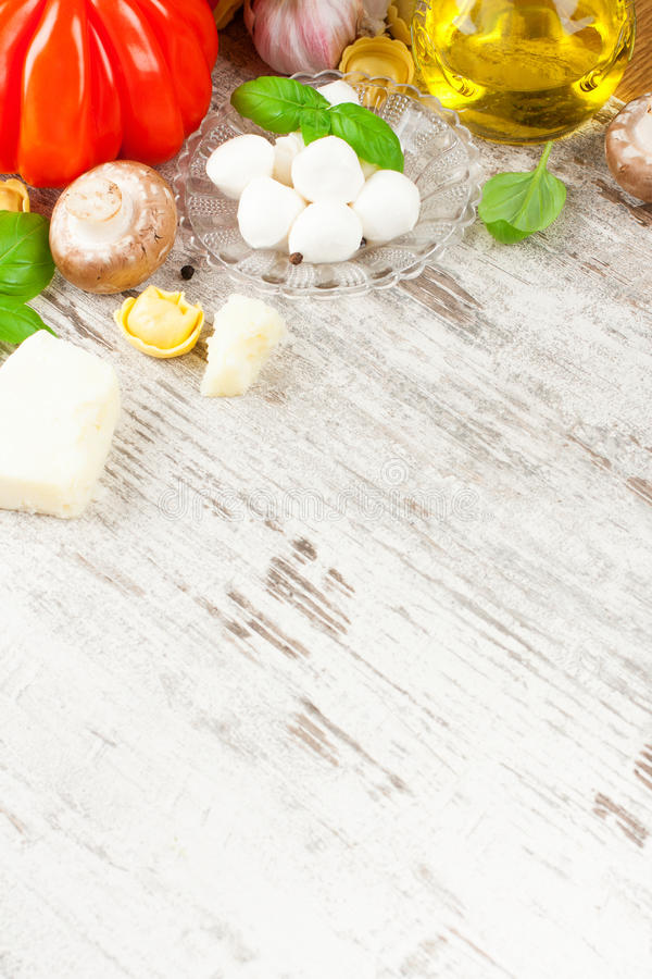 Итальянская предпосылка еды стоковое изображение