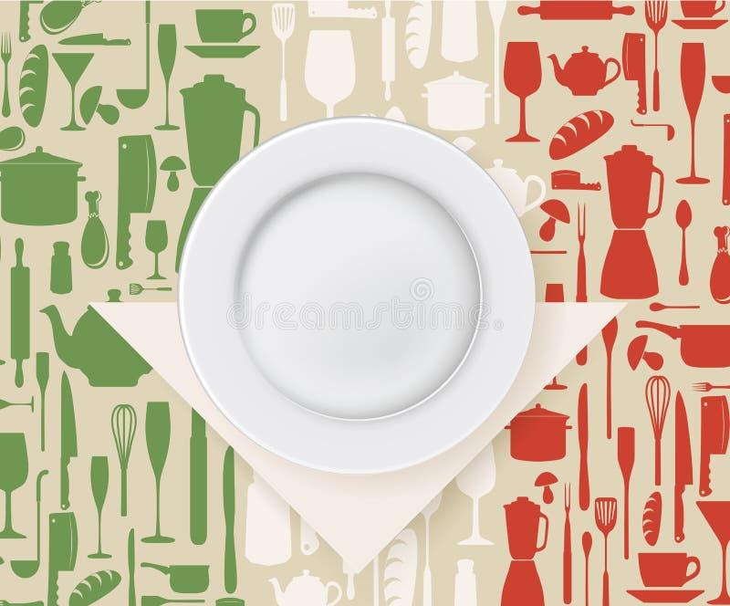 Итальянские меню ресторана и дизайн плаката бесплатная иллюстрация